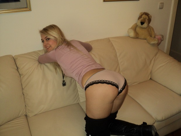 Lekkere blonde stoot