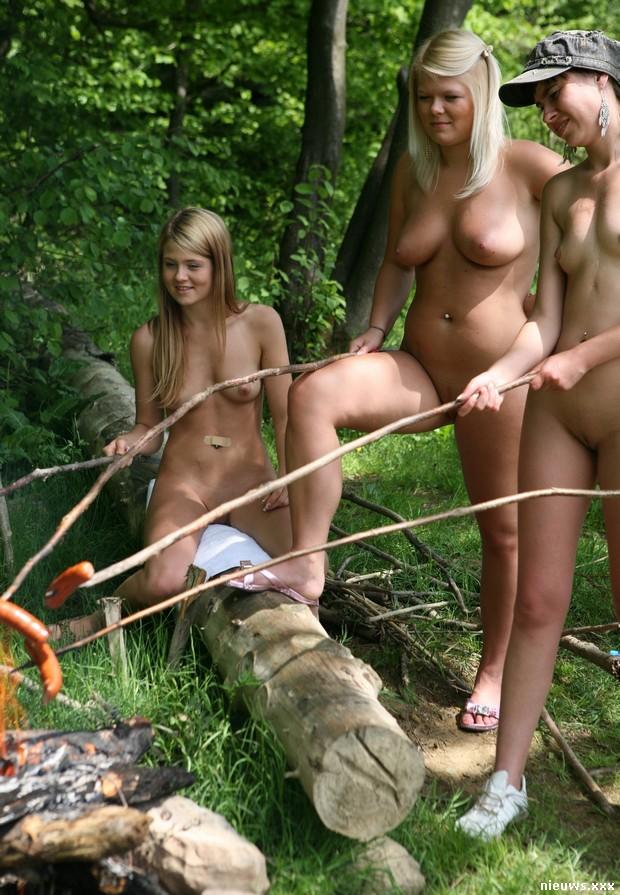 Blond beach models nude